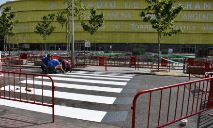 La plaça del Llaurador estrena el primer pas de vianants en 3D