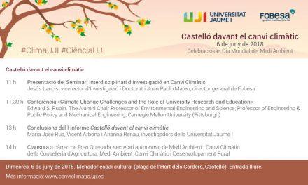L'UJI i Fobesa presenten el I informe Castelló davant el canvi climàtic en una jornada a Menador