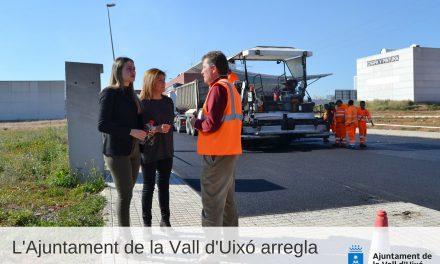 L'Ajuntament de la Vall D´Uixó arregla i asfalta el Polígon la Travessa