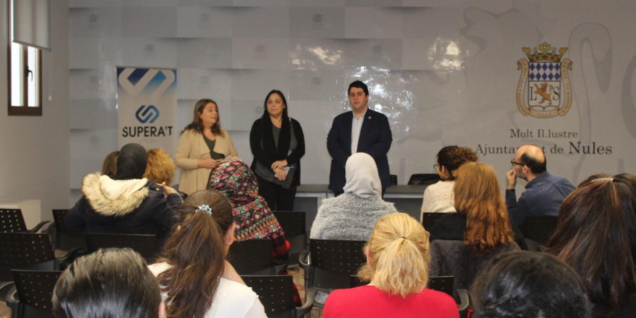 Un total de tretze dones troben treball a Nules gràcies al programa Supera´t