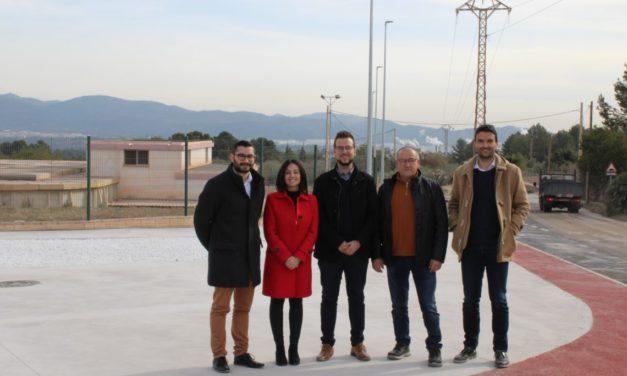 La secretària autonòmica d'Economia Sostenible visita les obres de millora dels polígons industrials de l'Alcora