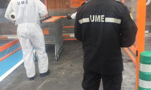 L'UME neteja i desinfecta punts estratègics del municipi