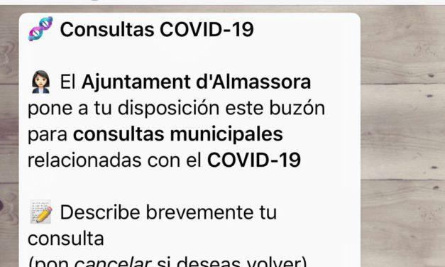 Almassora atén en xarxes més de 200 consultes pel COVID-19