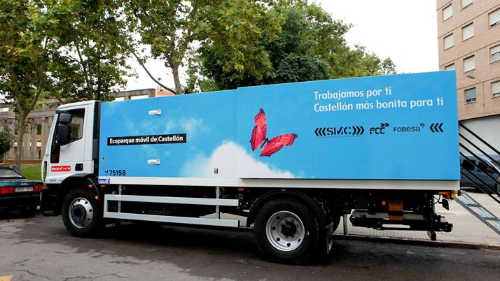 Castelló reactiva l'ecoparc mòbil amb el 100% del servei operatiu